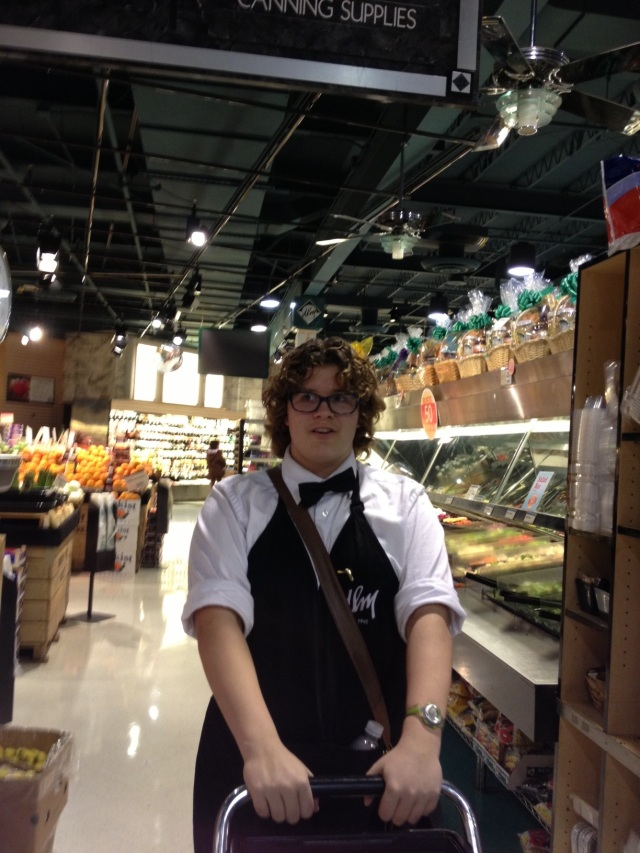 Rachelle C. (10), Dorothy Lane Market employee, shops after work. The change in wage will impact many DLM employees.