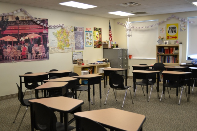 """Abner teaches one class of French five AP, this class challenges students in a way that prepares them for college. Abner said, """"My AP French classes have usually between 12-20 students, which is smaller than normal classes."""" Abner said."""