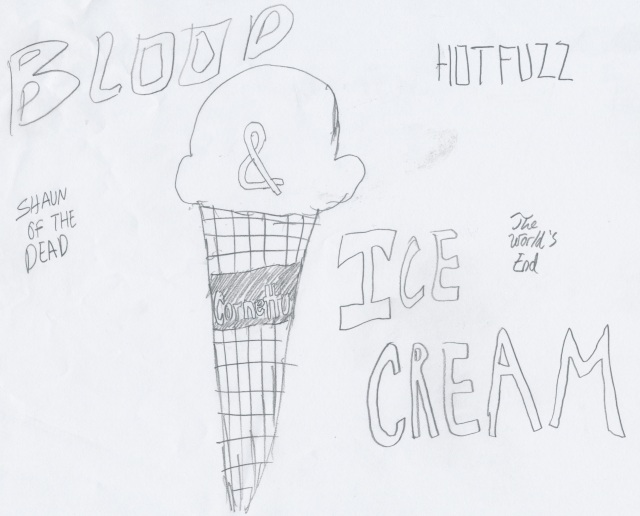 Blood and Ice Cream: With this film ends the trilogy of Edgar Wright's parody films.