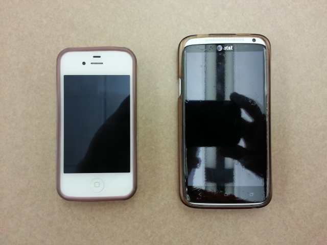 The disparity between cell phone sizes produced by Apple and Samsung are apparent. Ever since Steve Jobs' passing, Apple's popularity has dropped amongst consumers.