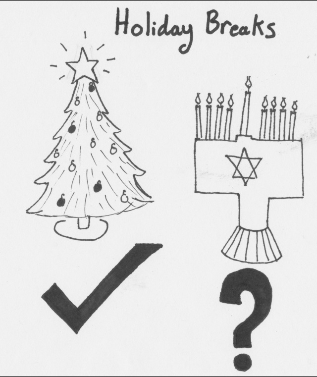 Are end of the year breaks unfair to certain religions?