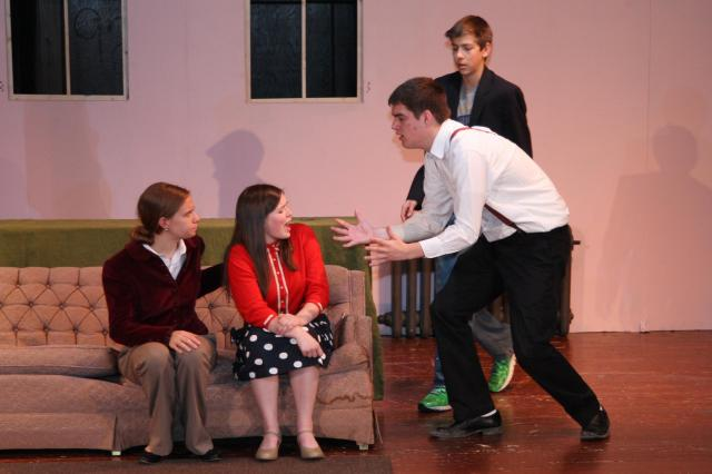 Mouse Catch: The main characters try to determine who among them is the murderer. Picture contributed by Dave Long.