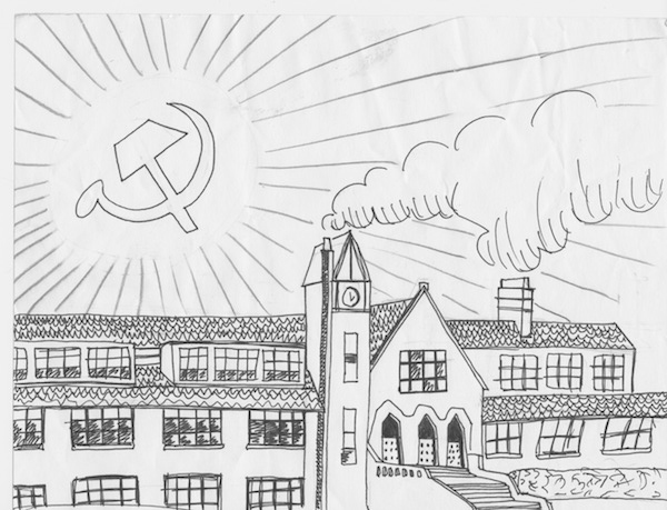 Radical opinions like socialism have been emerging as more common in Oakwood. Illustration by Olivia Anstadt.