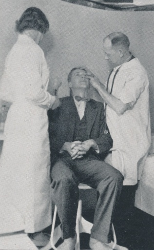 "Nurse's Niche: The nurse's office used to have ""white walls...an ominous chair...a pair of scales...bandages...medicines..splinters and cuts...tonsils and mumps"" according to the Acorn from 1925. Photo Contributed By Acorn"