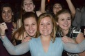 """Juniors Caroline Goeller, Emily Worley, Lily Behnke, Paige Heyl, Katherine Reymann and Lily Banke enjoyed Turnabout. """"I think it's really fun to go, because it is a smaller dance and less pressure,"""" Worley said."""